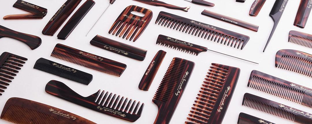 Assortment of cellulose acetate haircombs