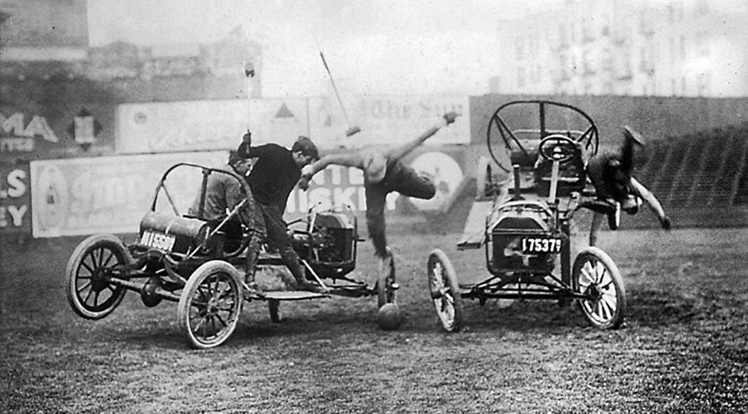 Automobile Polo Coney Island New York 1913