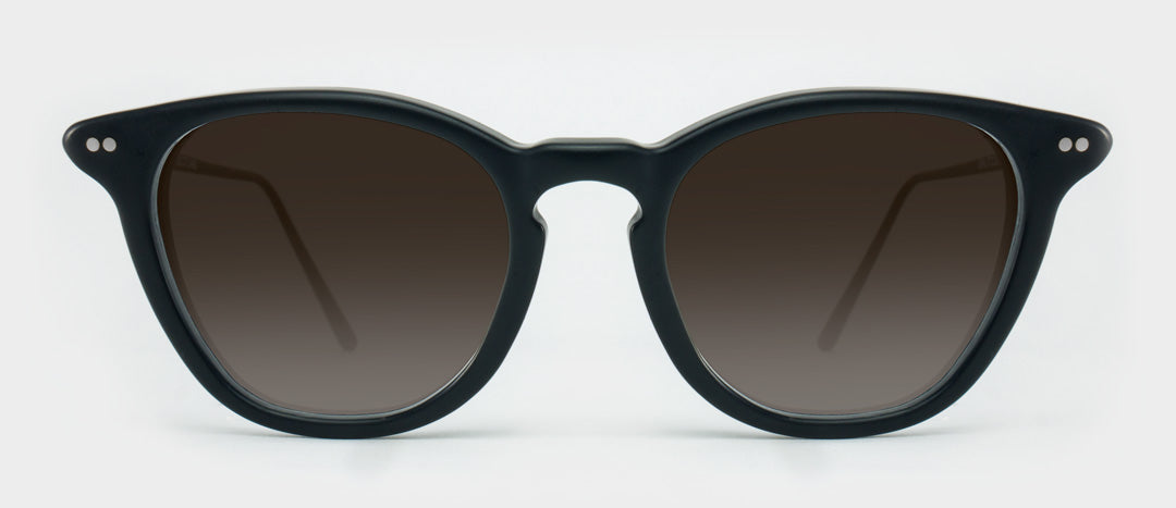 Black sunglasses with brown tinted lenses