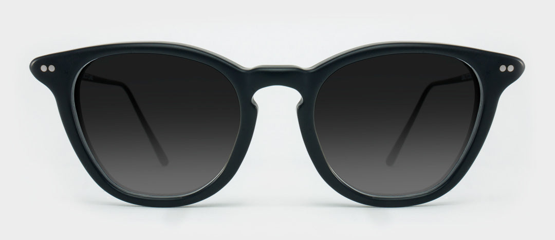 Black sunglasses with grey tinted lenses