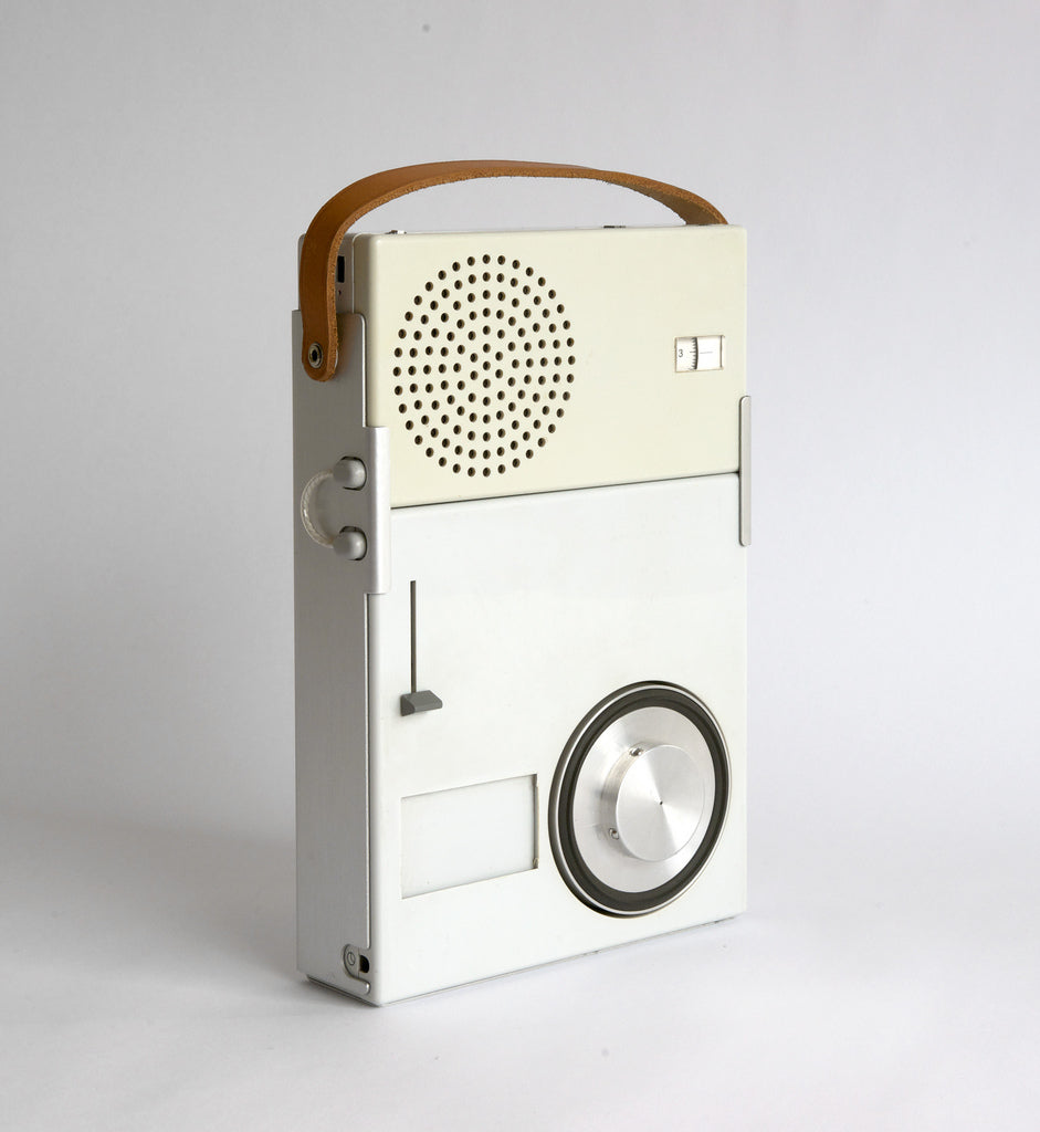 Braun TP1 Portable Radio designed in 1959 by Dieter Rams