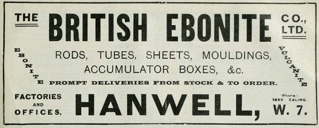 British Ebonite rubber company poster