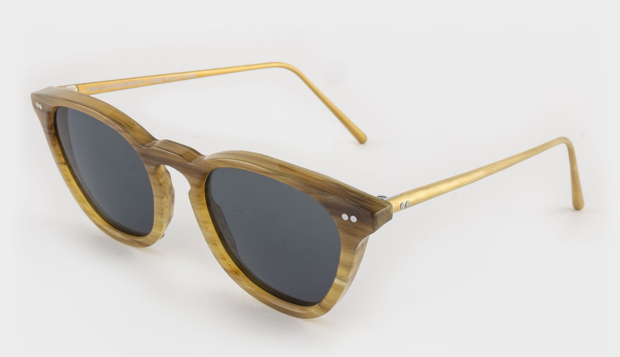 Brown Vintage Galalith Sunglasses Side View