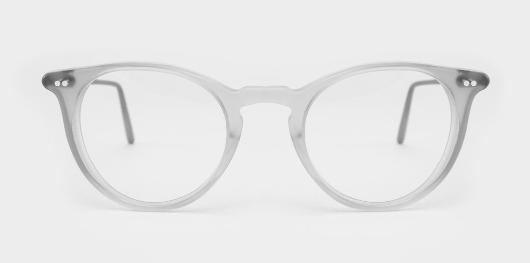 Clear acetate architect glasses frame with silver arms