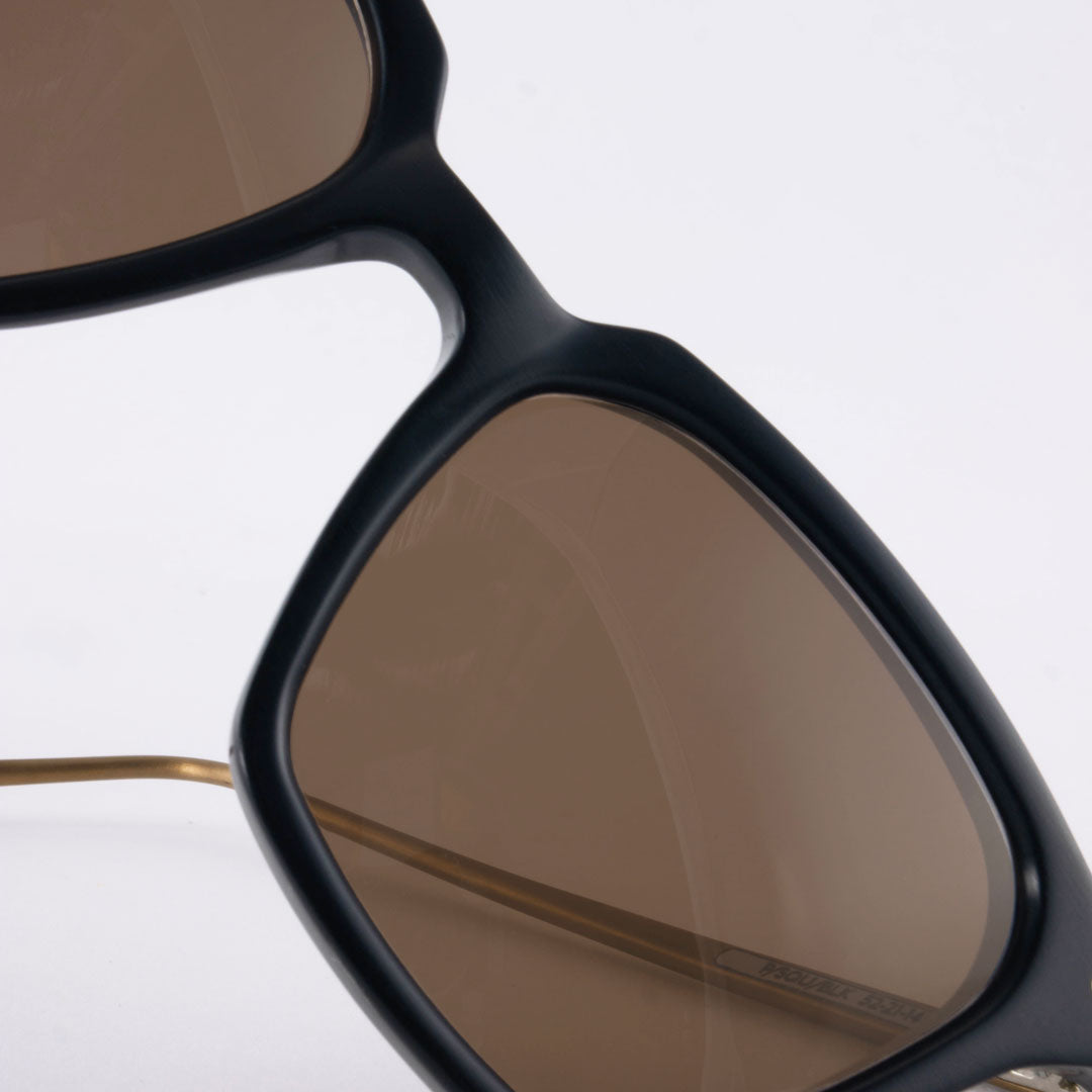 Close view of Black and bronze sunglasses