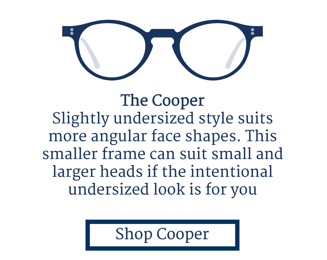 Cooper glasses frame suits square face shapes