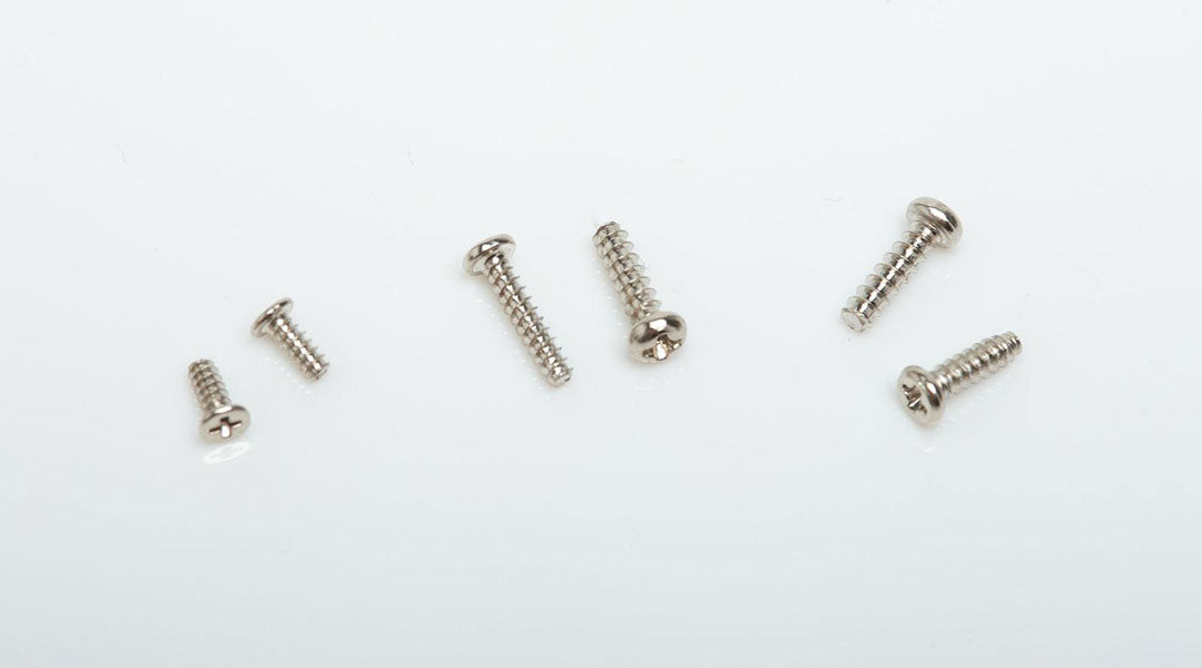 Different lengths of cross head glasses screws