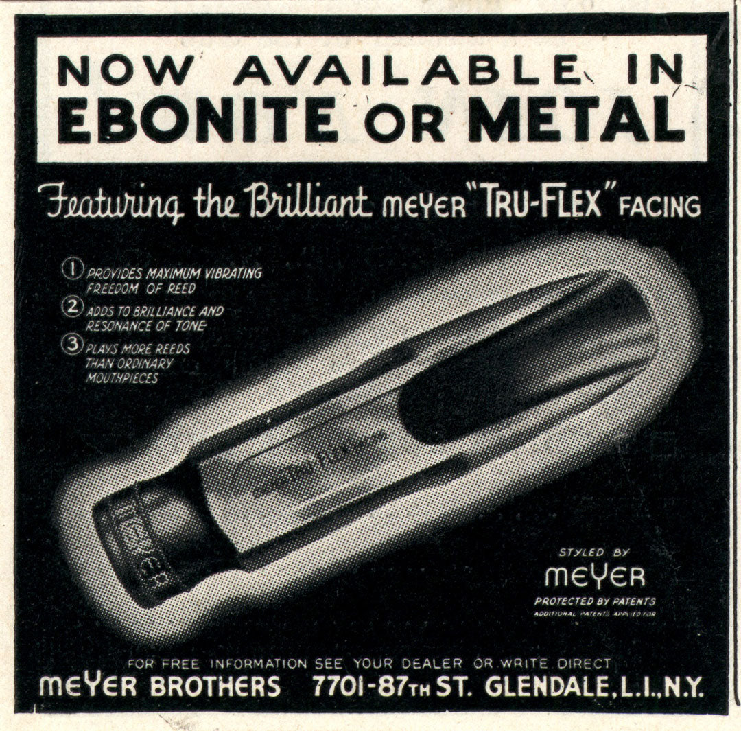 Ebonite rubber mouthpiece advert