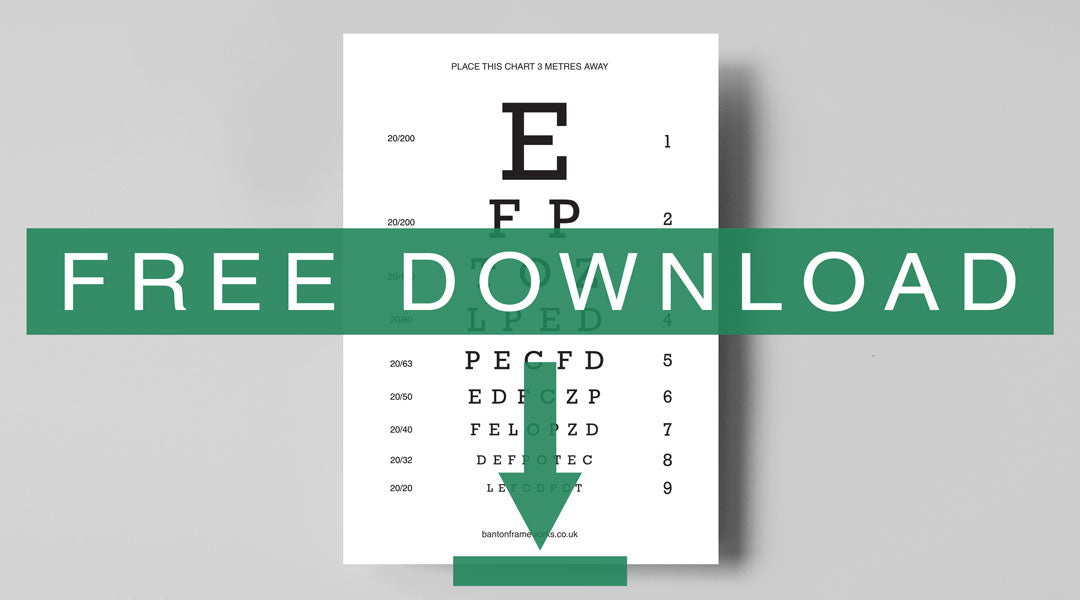 Eye test chart for printing and using at home