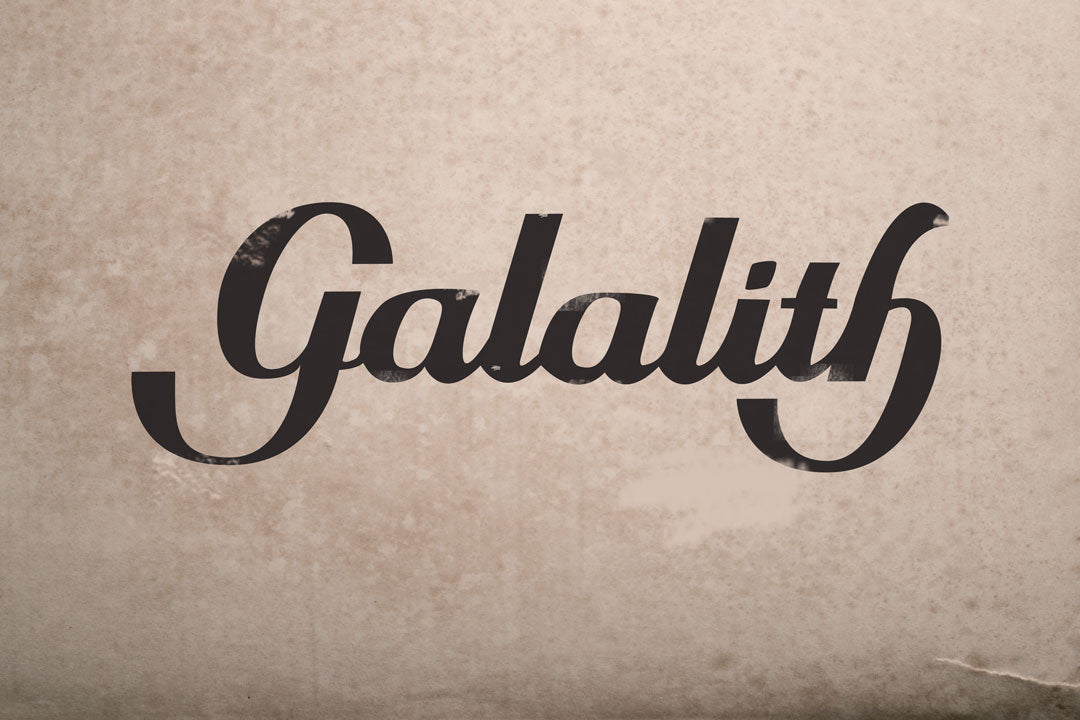 Galalith logo on old paper