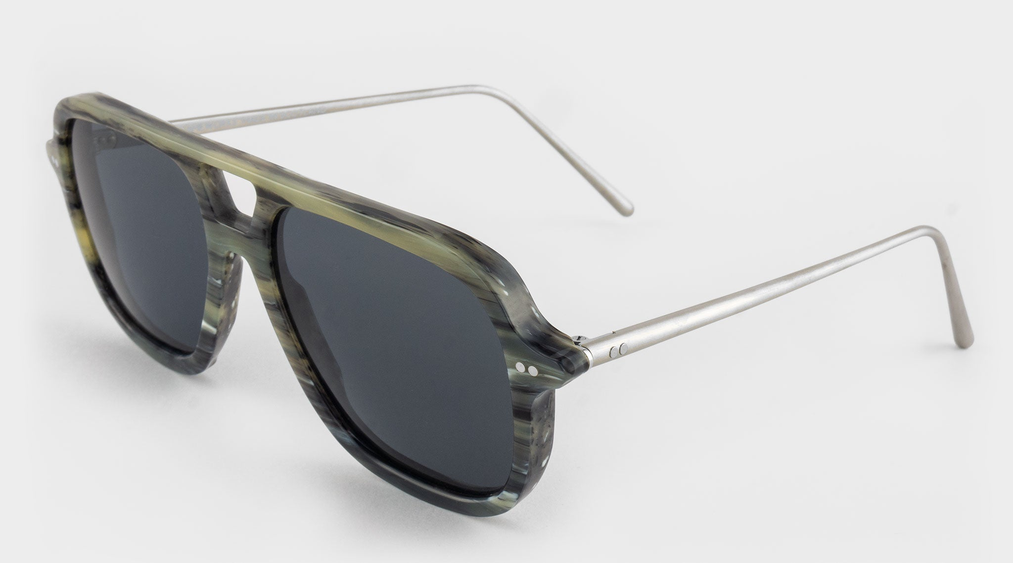 Grey Vintage Galalith Sunglasses Side View