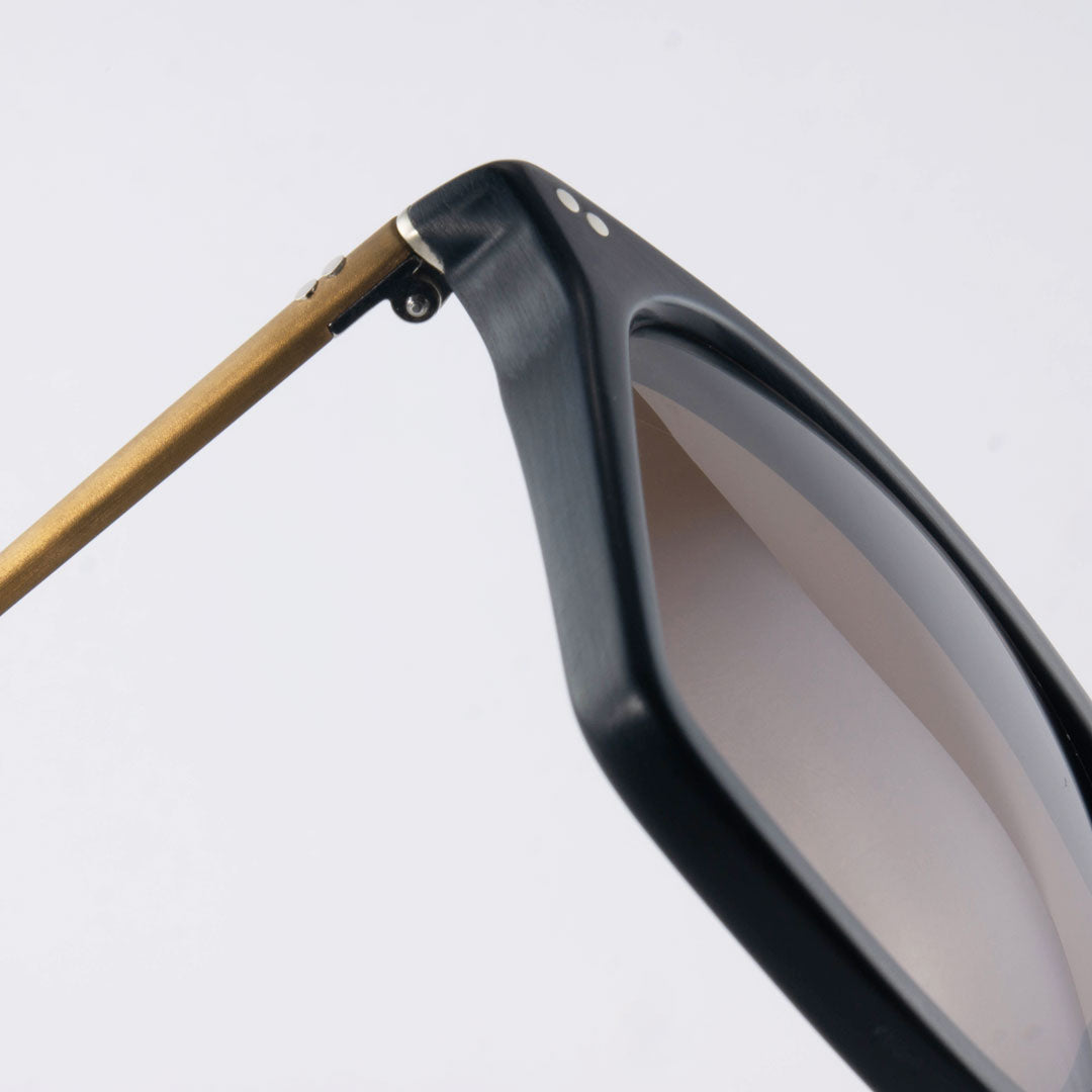 Hinge juncture of ltd edition sunglasses