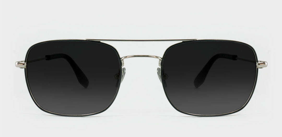 Large fit sunglasses frame made from silver wire