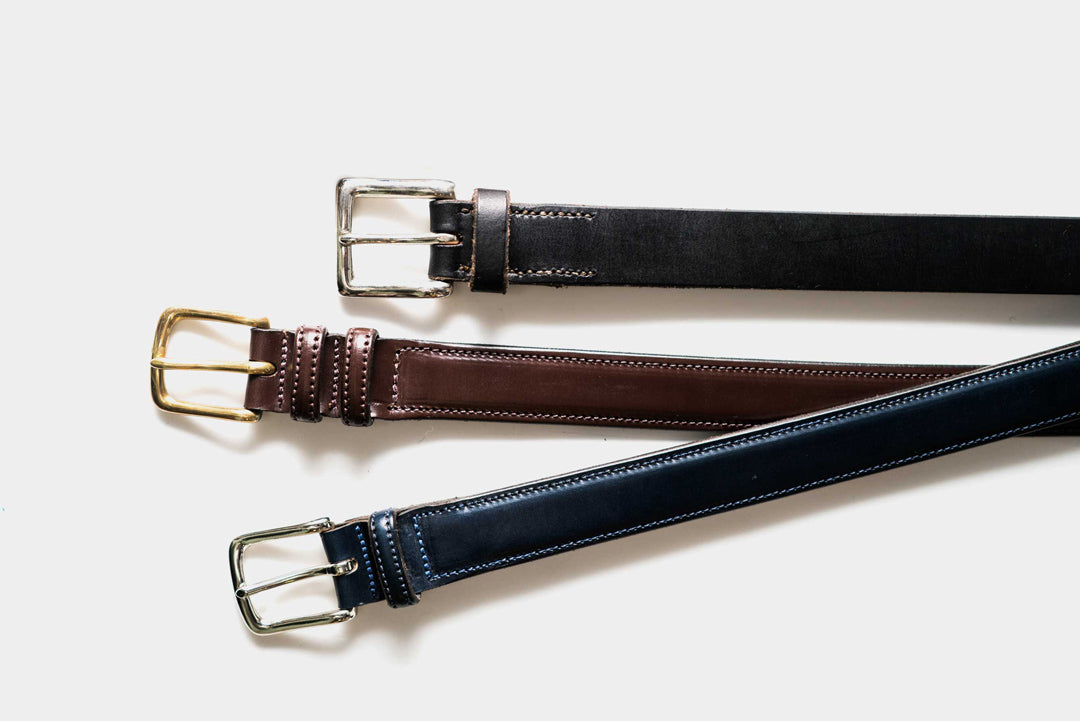 Click image of leather belts to access McRostie website.