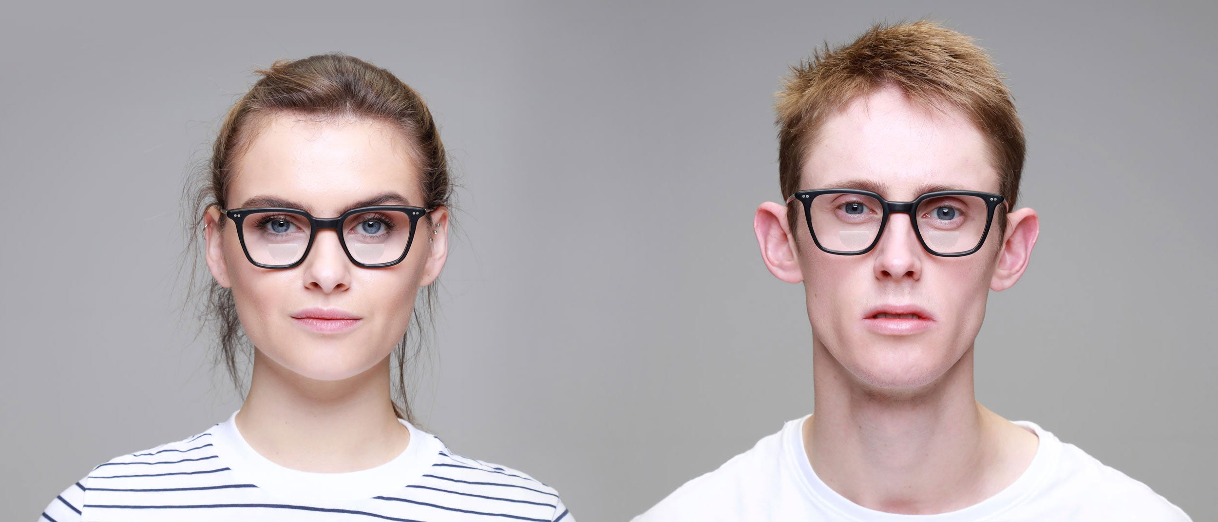 Man-and-Woman-Wearing-Bifocal-small-square-black-glasses