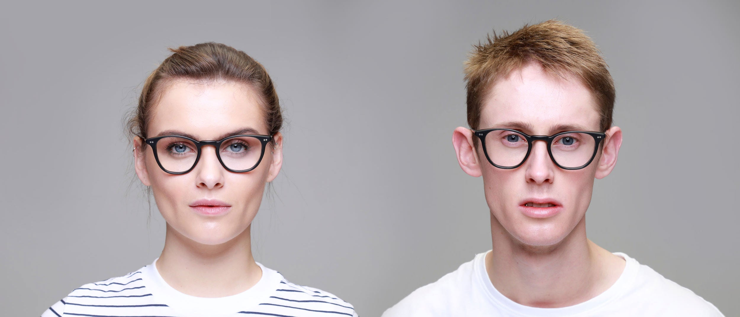 Man-and-Woman-Wearing-Varifocal-Black-frame-glasses