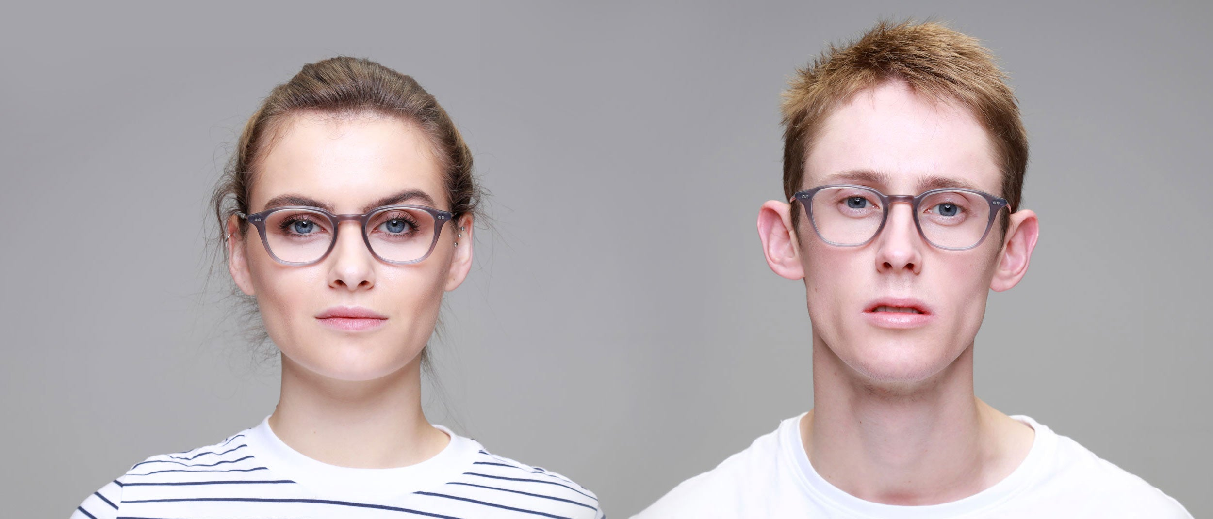 Man-and-Woman-Wearing-Varifocal-Grey-rectangle-frame-glasses