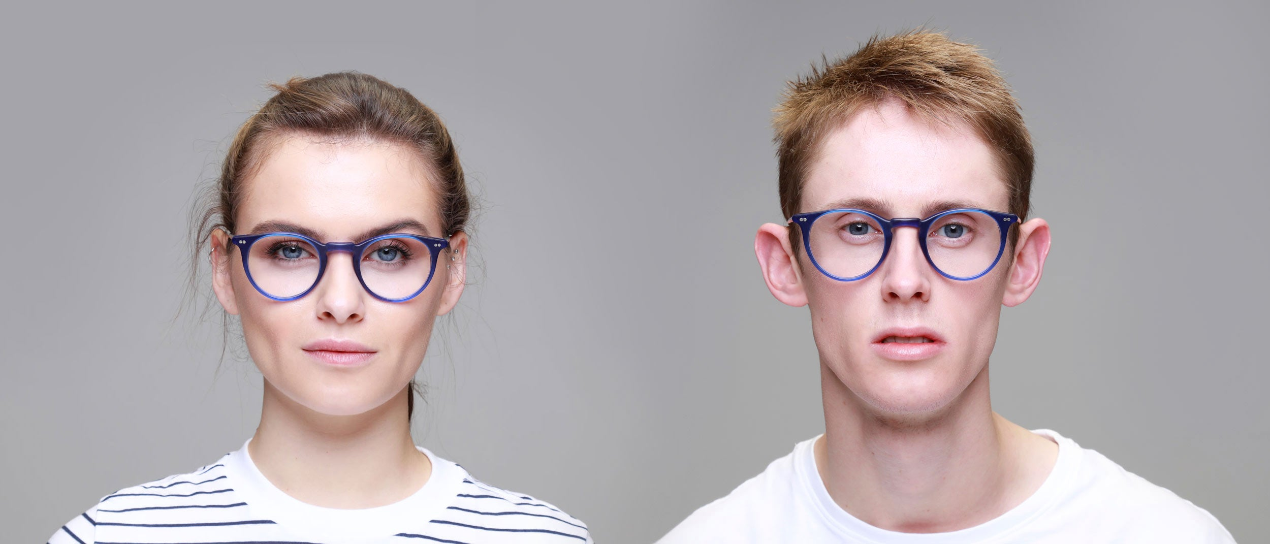 Man-and-Woman-Wearing-Varifocal-Round-Blue-frame-glasses