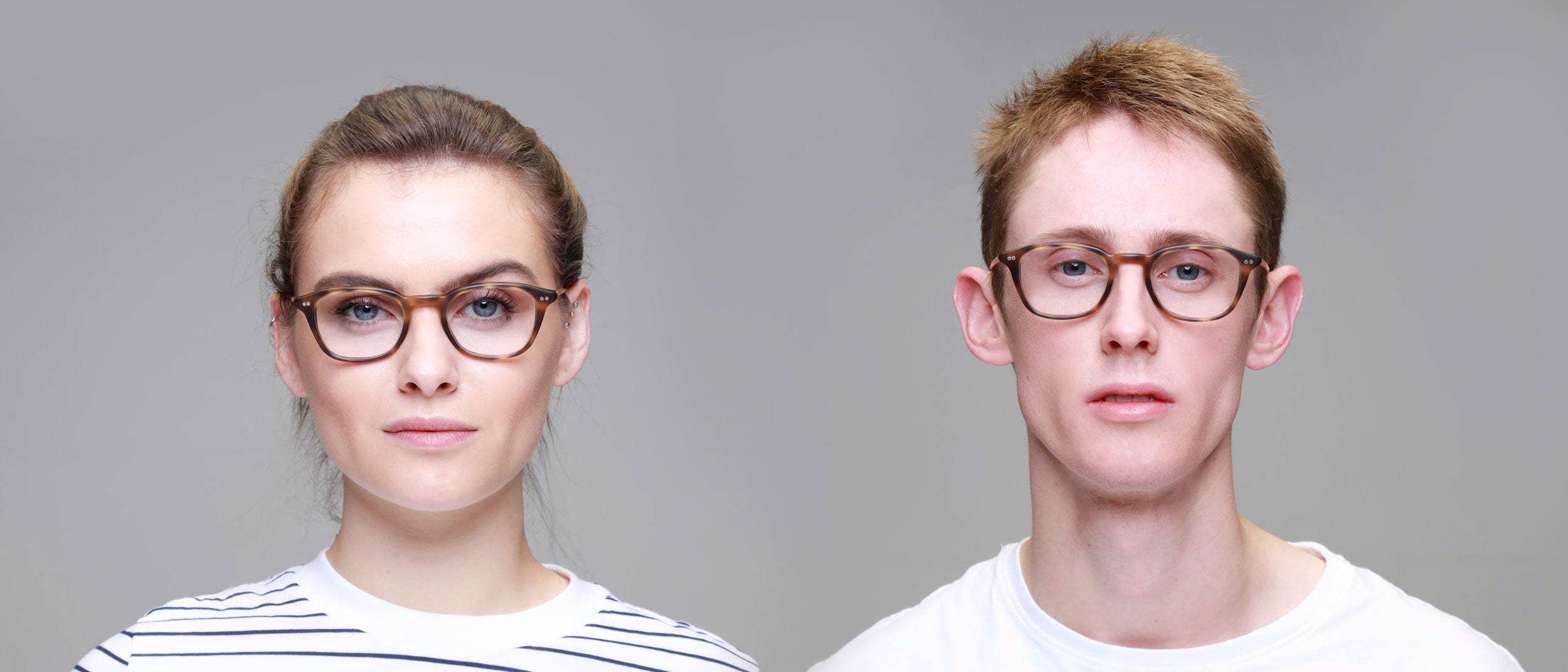 Man-and-Woman-Wearing-Varifocal-Tortoiseshell-rectangle-frame-glasses