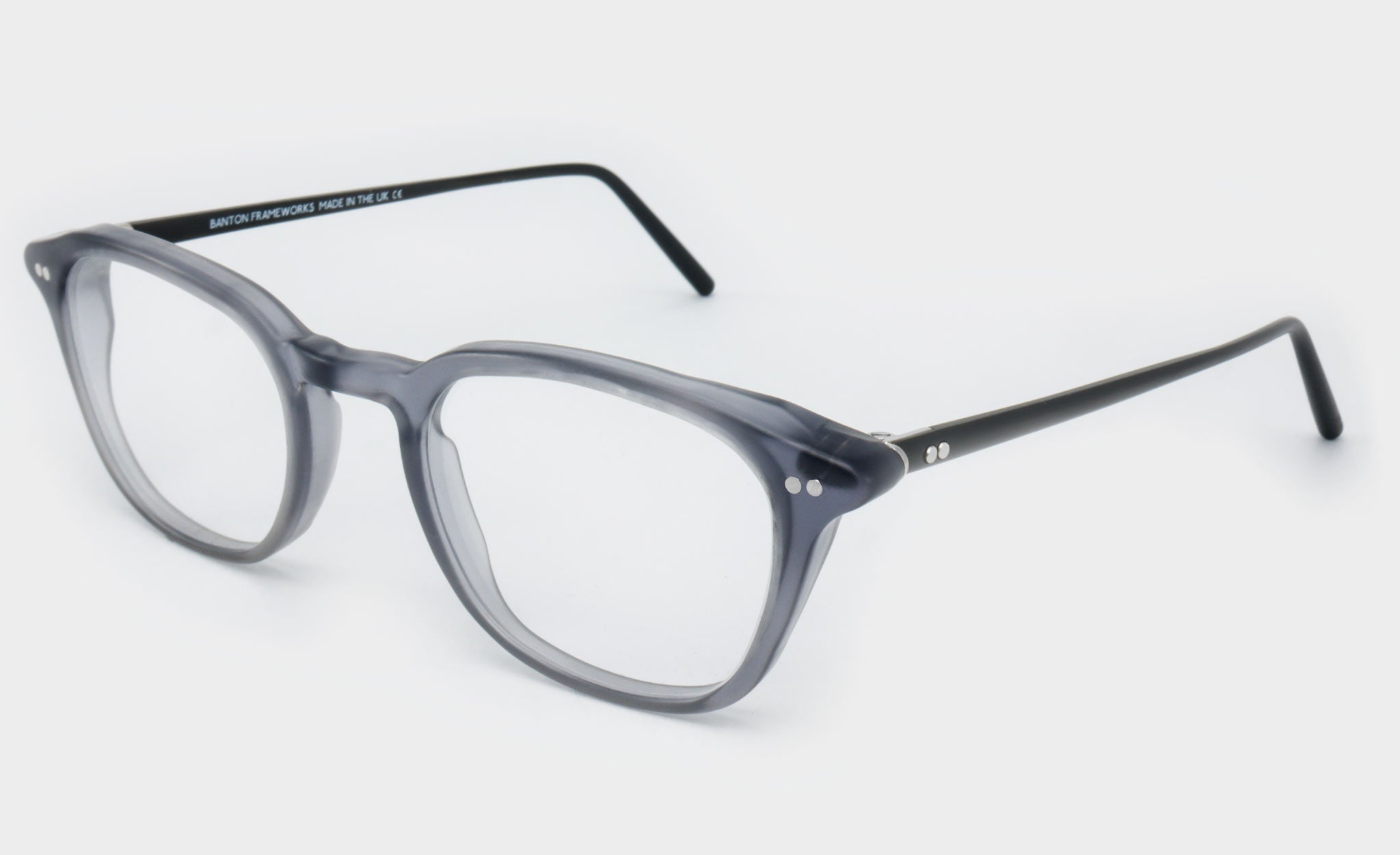Mens-Grey-Rectangle-Glasses-Frame-Side-View