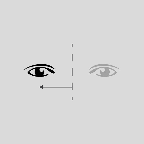 An illustration of measuring your mono-pupillary distance. (Mono PD)