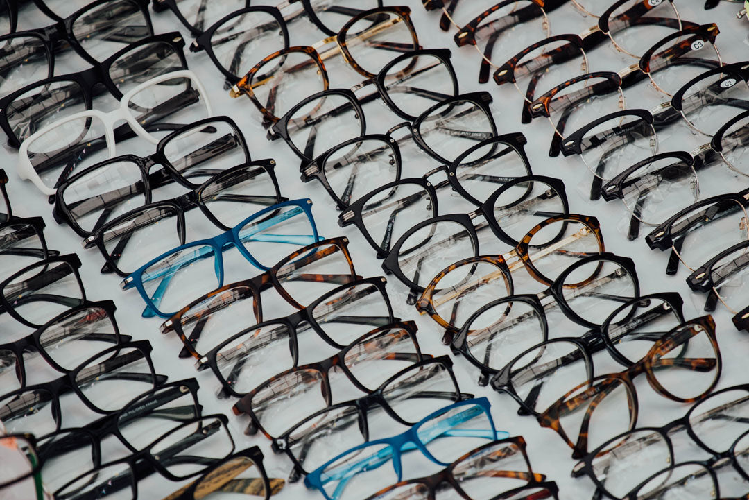 Multiple rows of private label spectacle frames