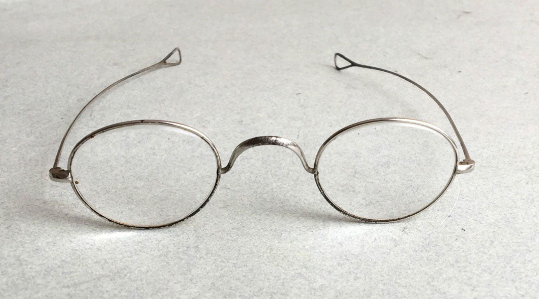 Old fashioned glasses frame with loop ends