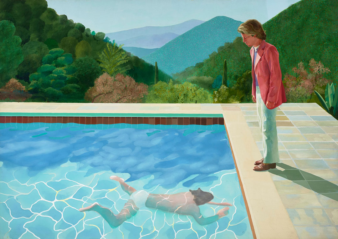 Portrait of an Artist (Pool with Two Figures) painting by David Hockney