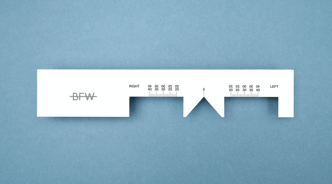 Pupillary distance ruler by Banton Frameworks