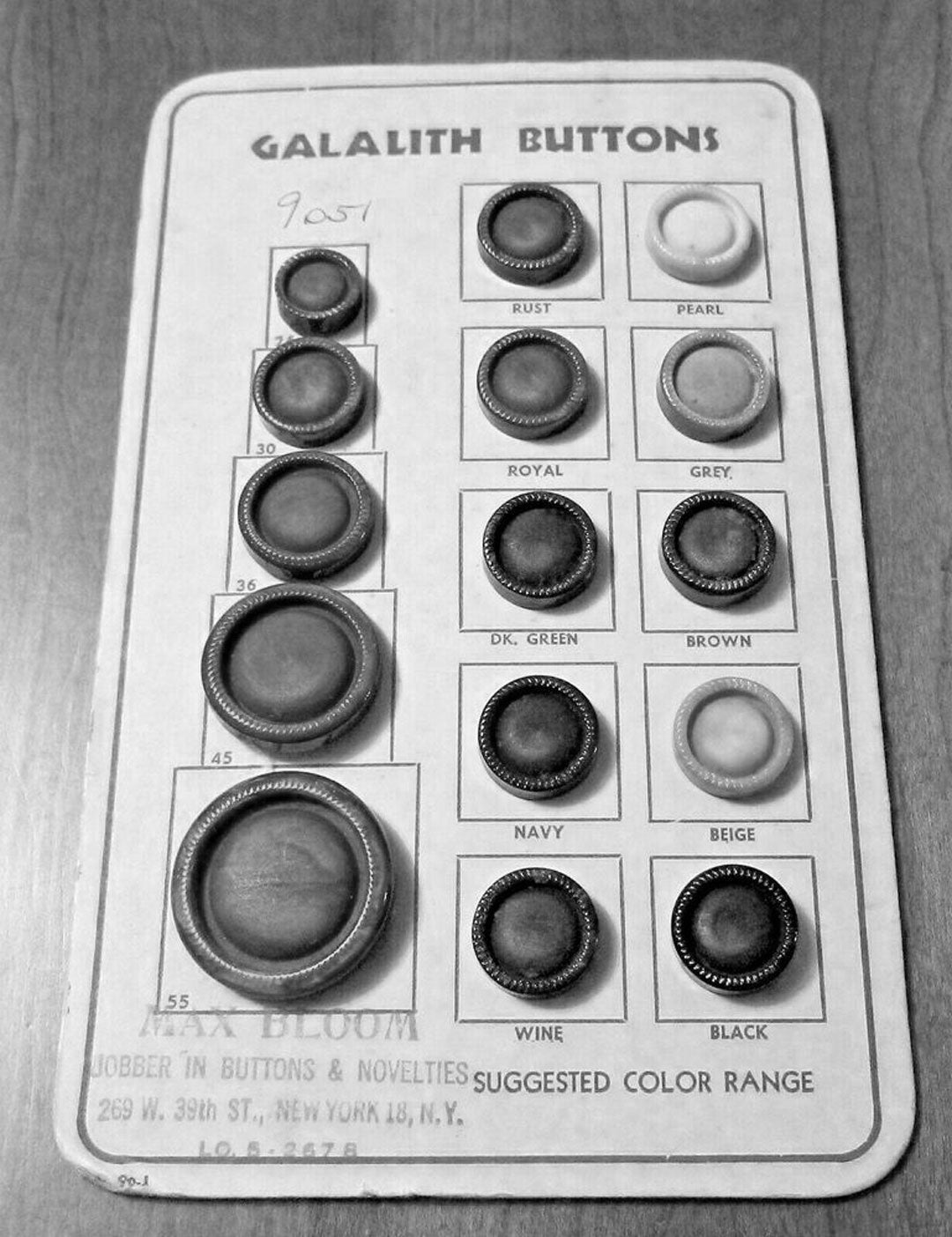 Samples of old Galalith buttons