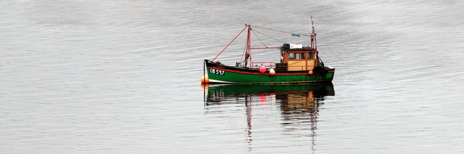 Scottish fishing boat on loch Creran