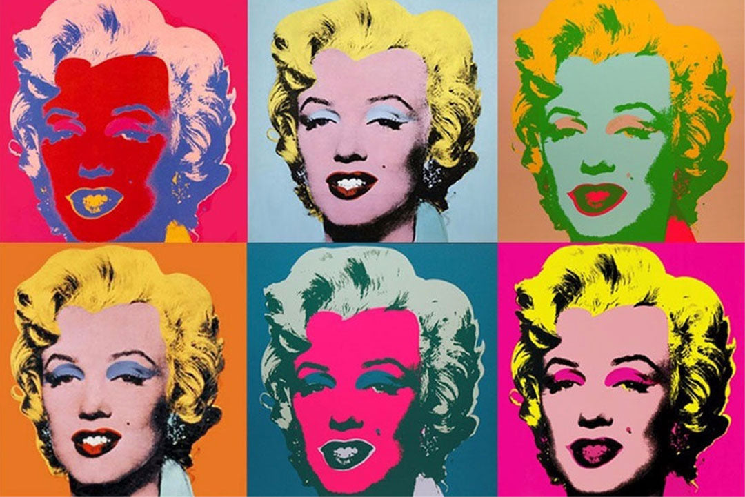 Silkscreen print Marilyn Diptych by Andy Warhol