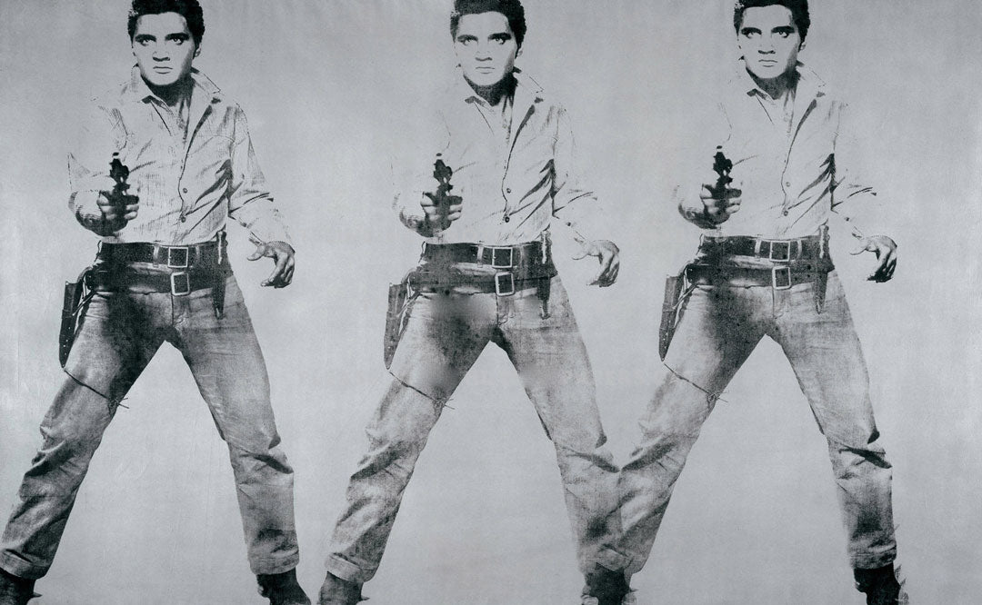 Silscreen print of Elvis Presely by Andy Warhol