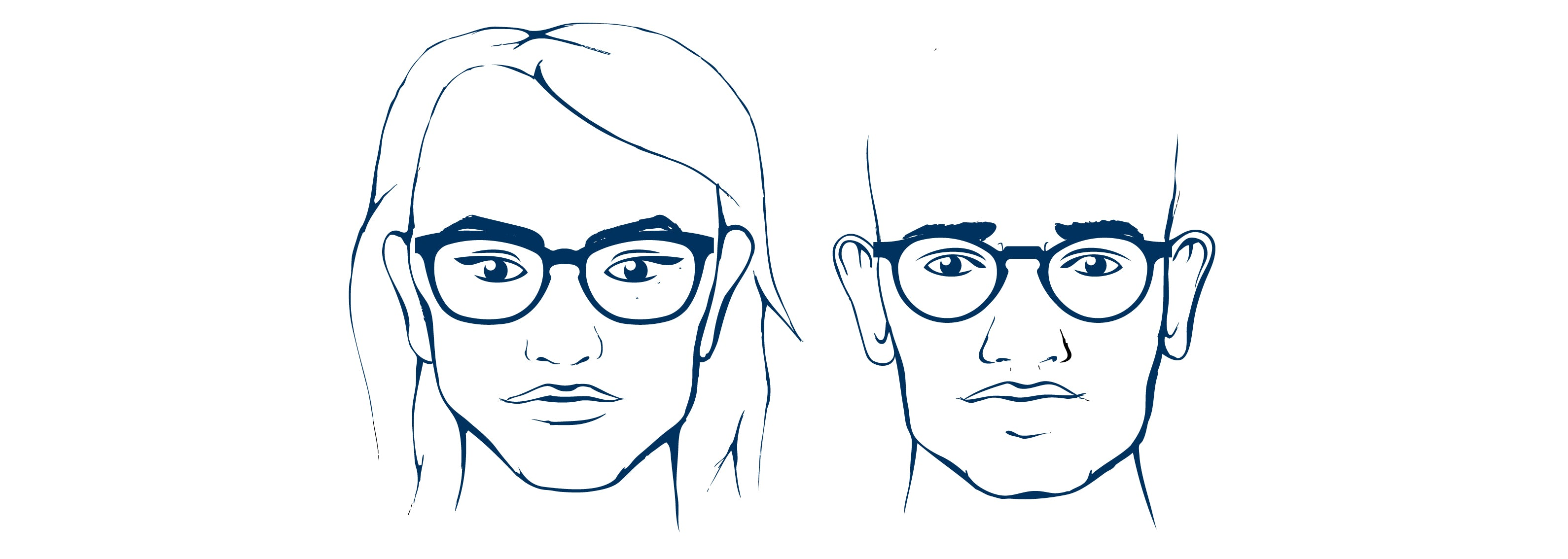 Square face shape - glasses that suit