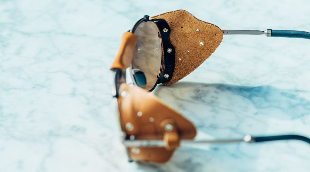 Sunglasses frame with side shields