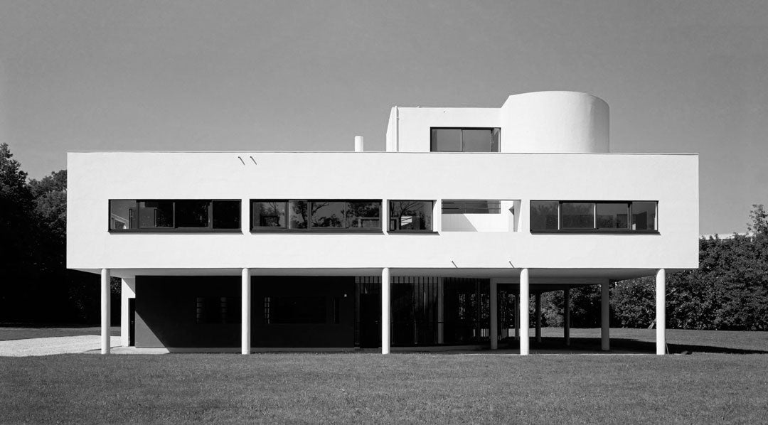 The Villa Savoye modernist building by Le Corbusier