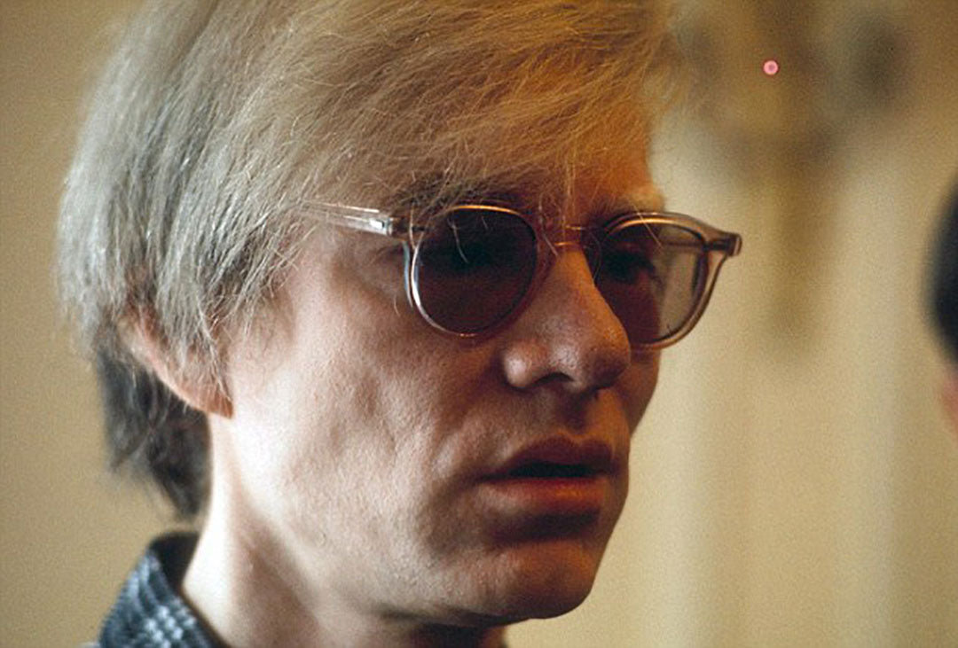 Tinted sunglasses worn by Andy Warhol