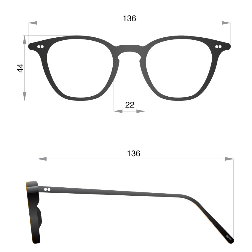 UK made Glasses C BLK