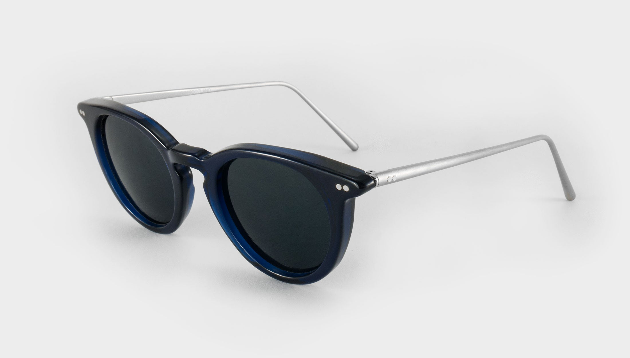 Womens blue polarised sunglasses side view