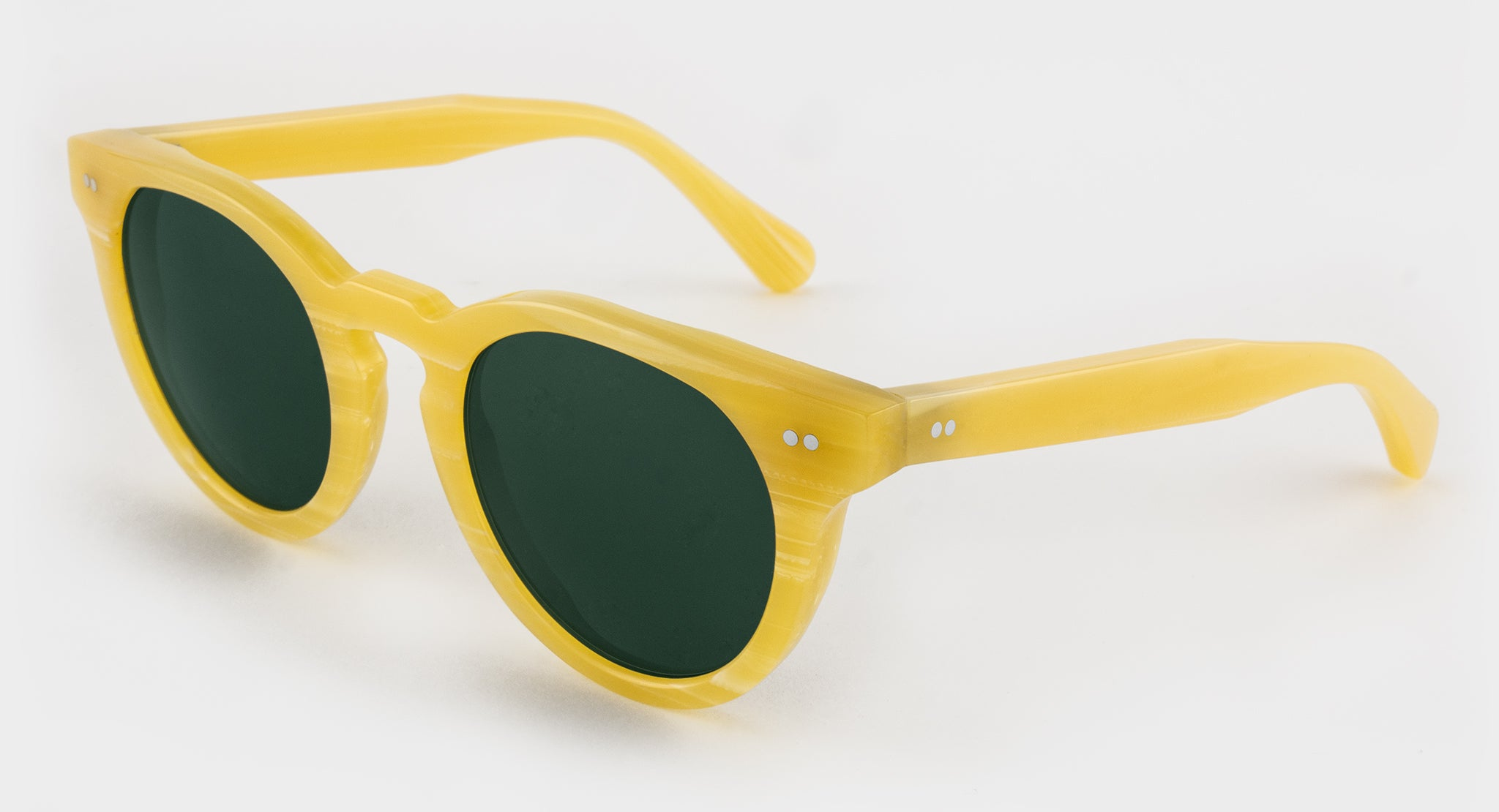 Yellow Vintage Galalith Sunglasses Side View