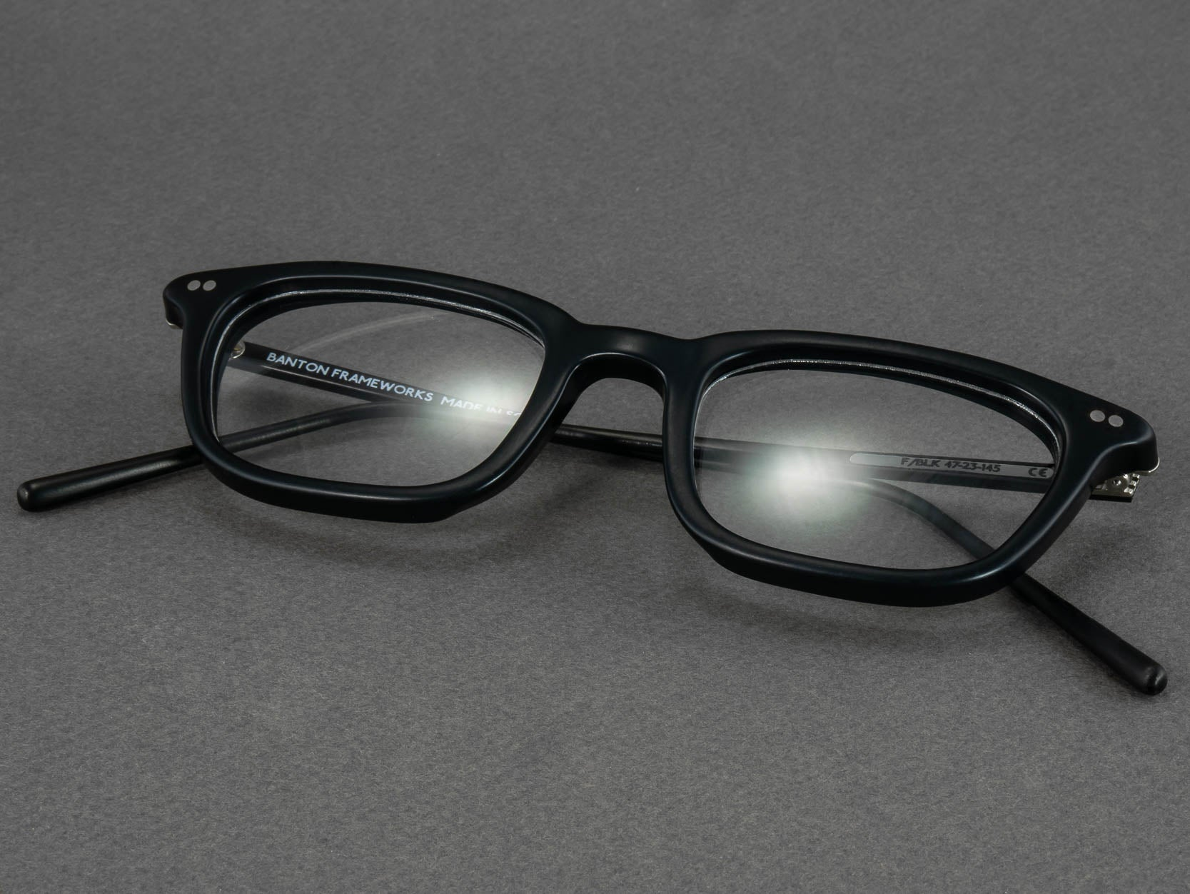 black rectangle optical glasses folded