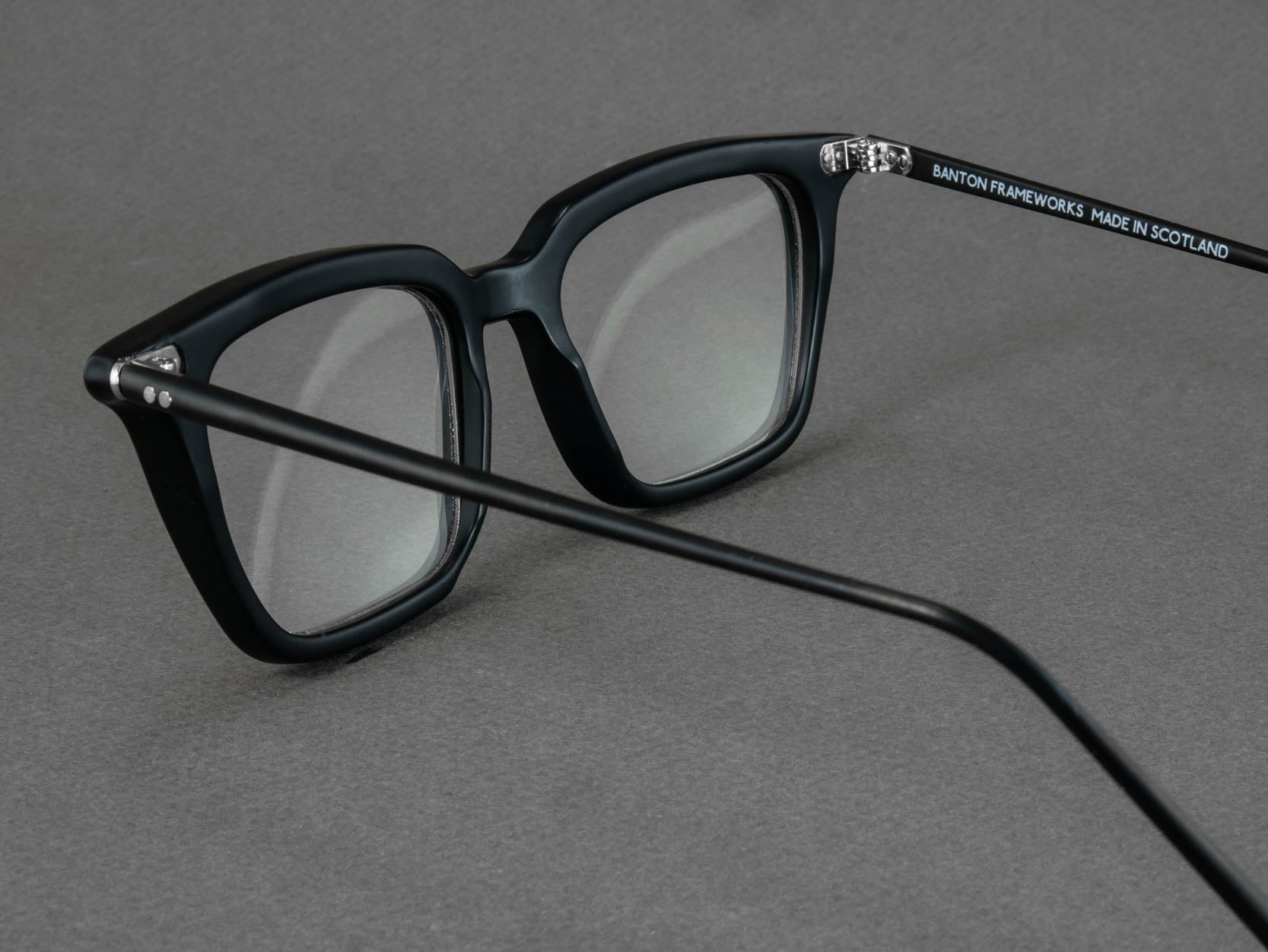 black rectangular optical glasses aerial view