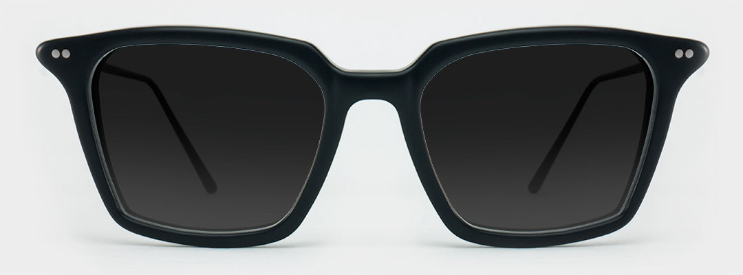 black square polarised sunglasses