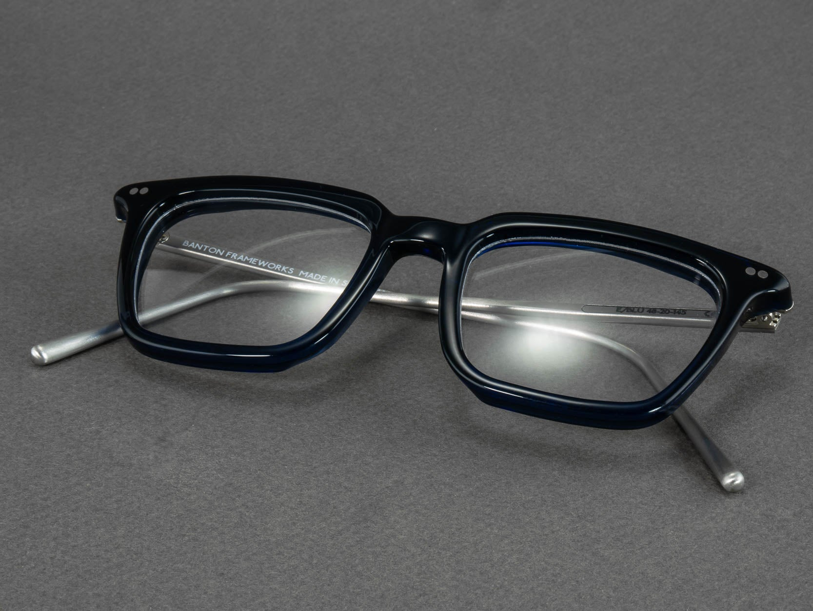 blue glasses optical frame square folded
