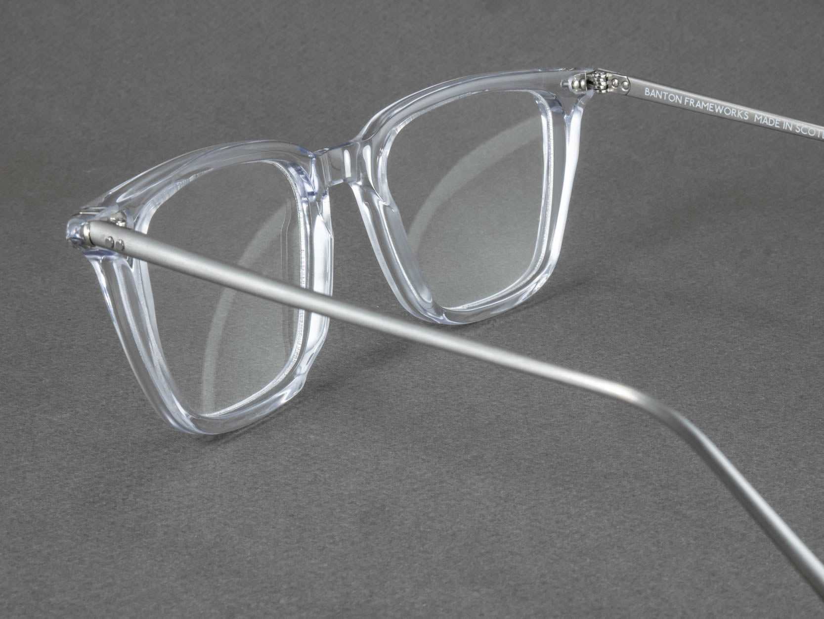 clear frame glasses aerial view