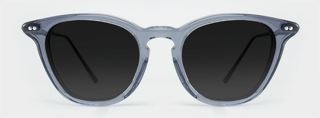 grey frame polarised sunglasses