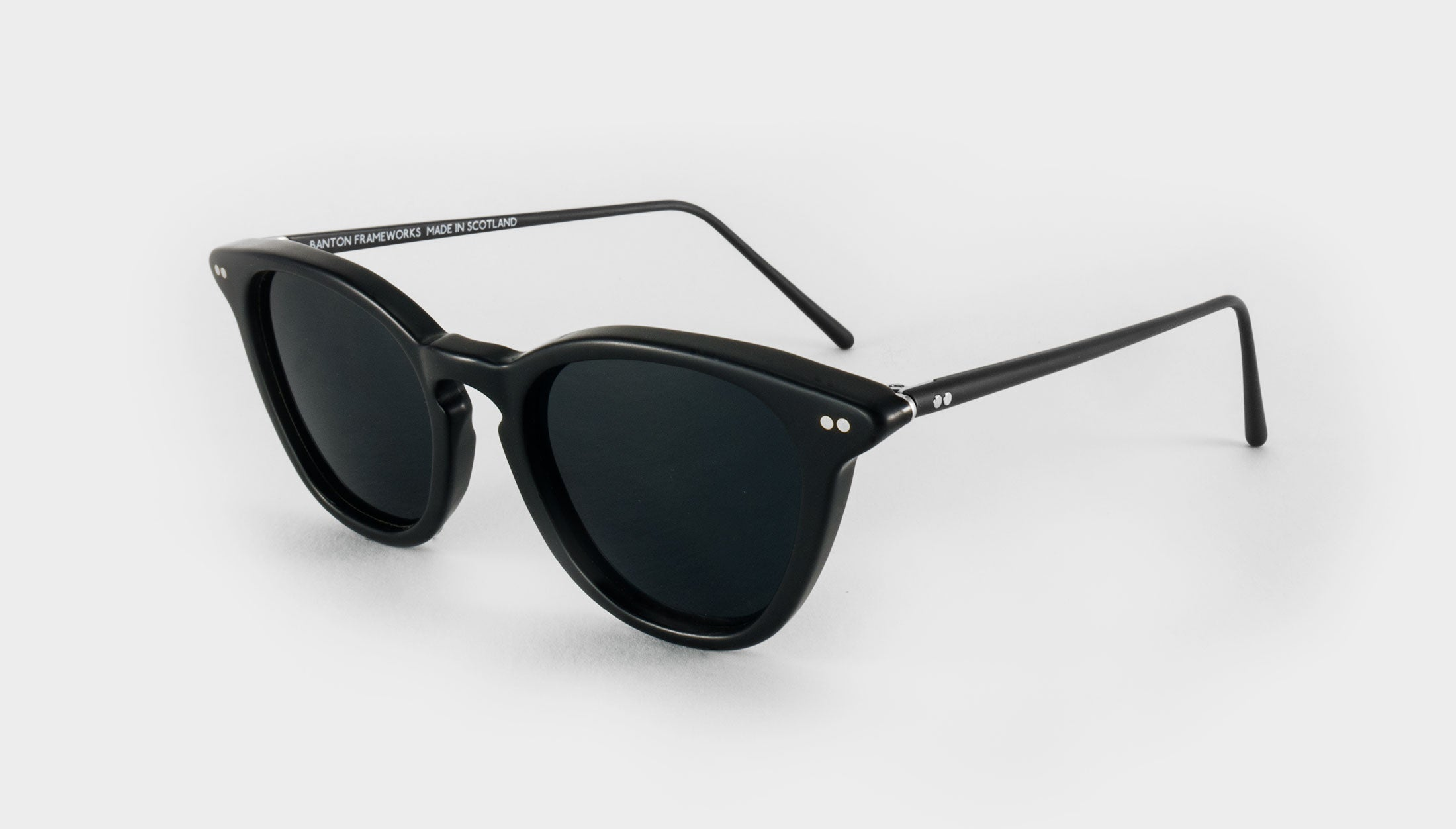 matte black polarised sunglasses side view