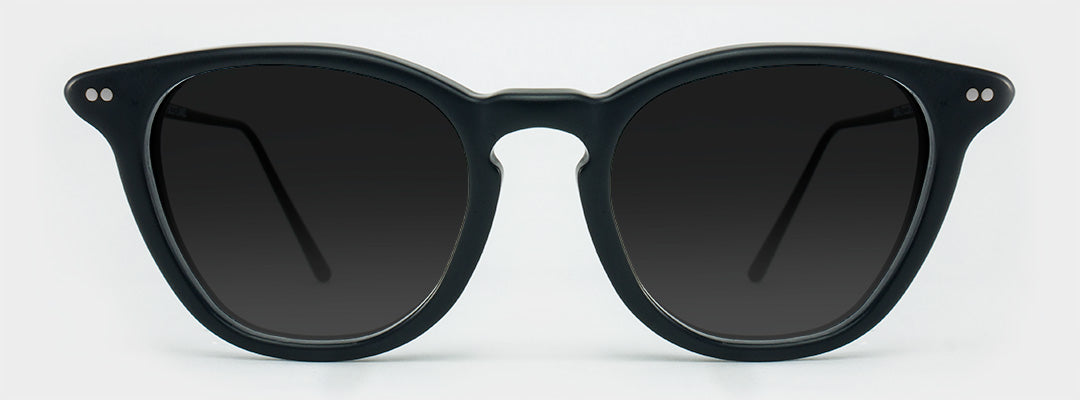 matte black polarised sunglasses