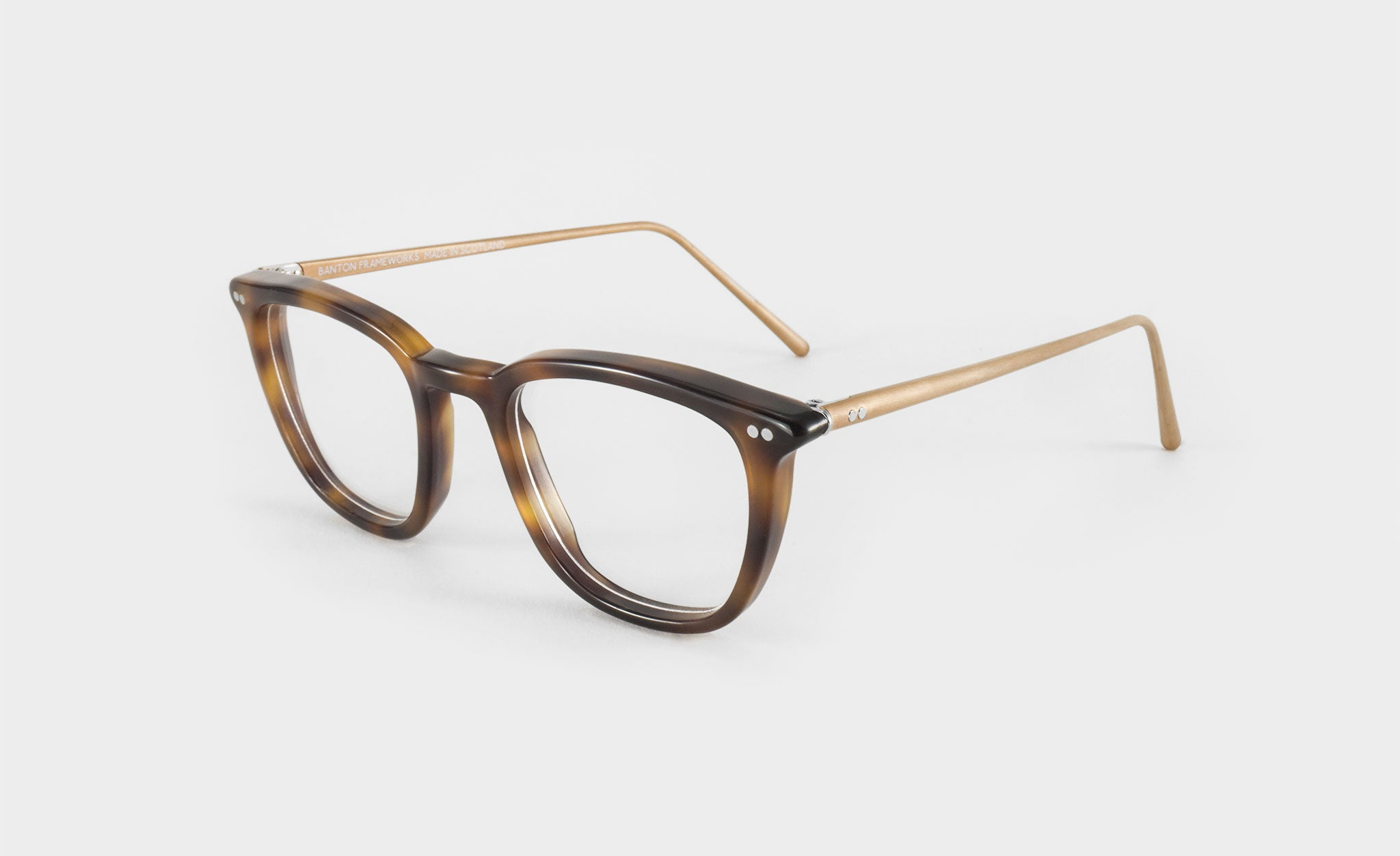 mens square tortoise shell glasses side view
