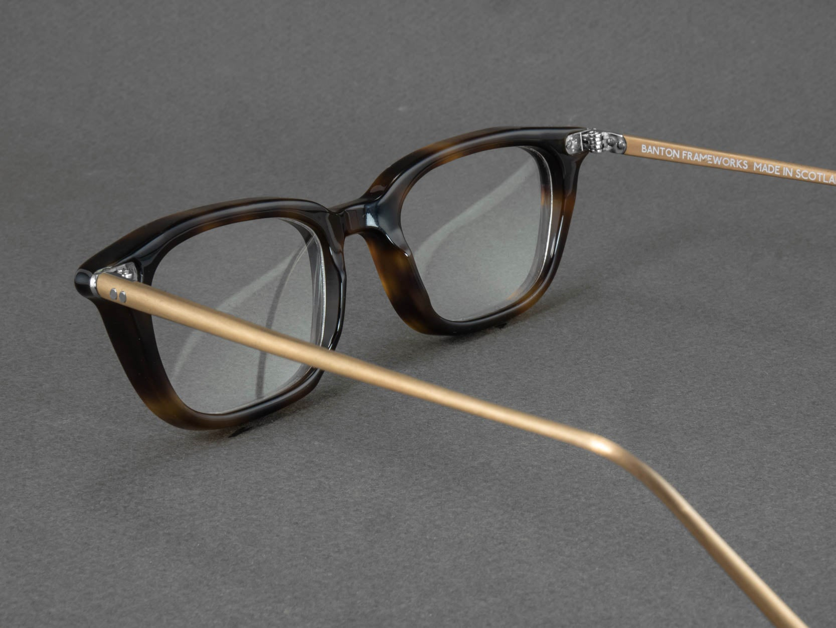 rectangular tortoise shell glasses frame aerial view